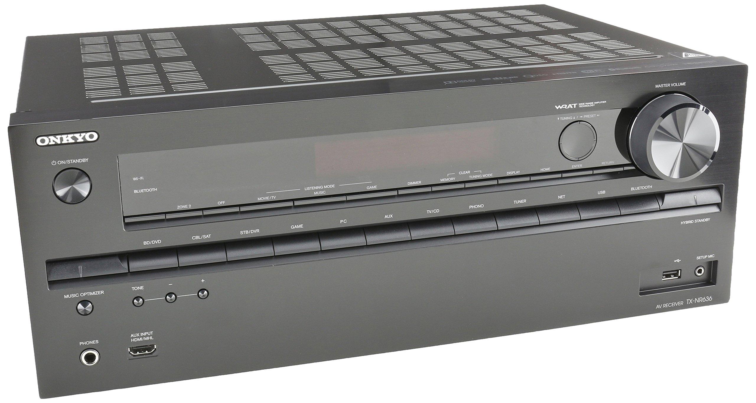 Onkyo TX-NR636 7.2-Ch Dolby Atmos Ready Network A/V Receiver w/ HDMI 2.0 by Onkyo