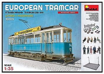 Unbekannt Mini Tipo 38009 – Maqueta de European tramcar Brillantes Tren automotor 641 con Crew y pasajeros.