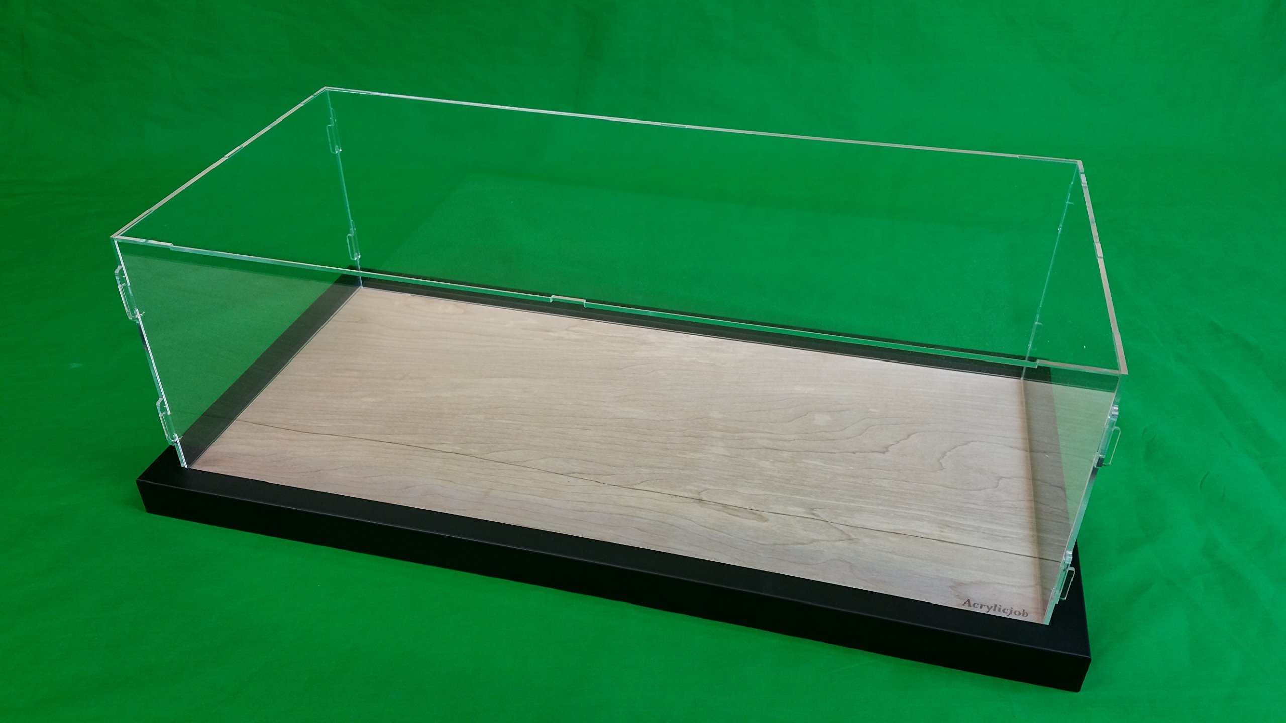 25''L x 12''W x 7''H Acrylic Display Case for 1:8 scale Pocher Testarossa and model cars Black Frame