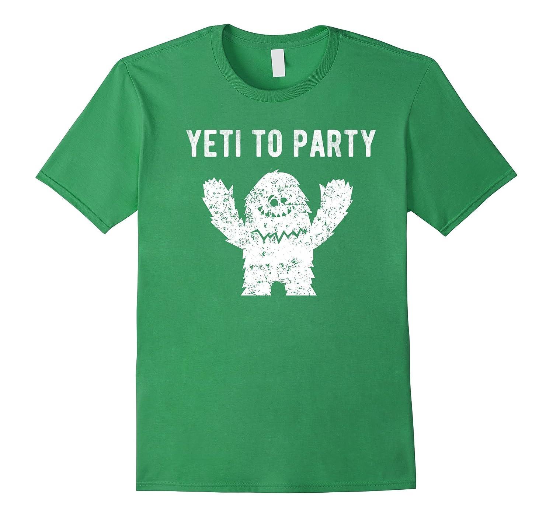 Yeti to Party - Cute Trendy Graphic Tee T-shirt-Art
