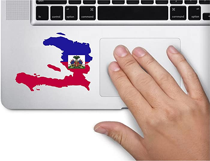 Map with Flag Inside Haiti 3x3.6 inches Sticker Decal die Cut Vinyl - Made and Shipped in USA