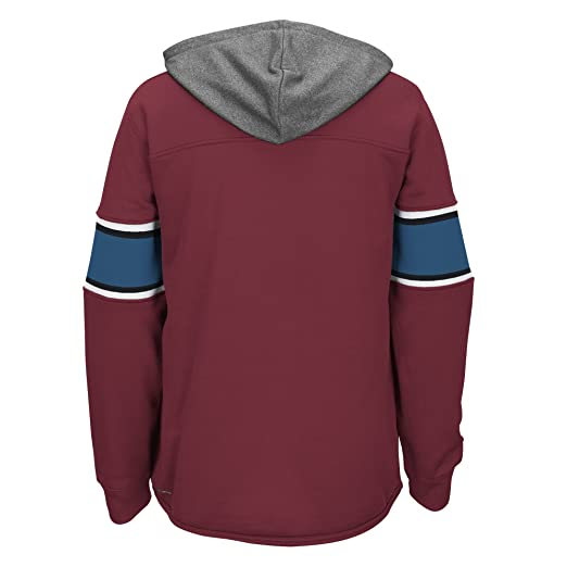 c377a8db4 Amazon.com   NHL Colorado Avalanche Men s Face Off Jersey Pullover Hoodie