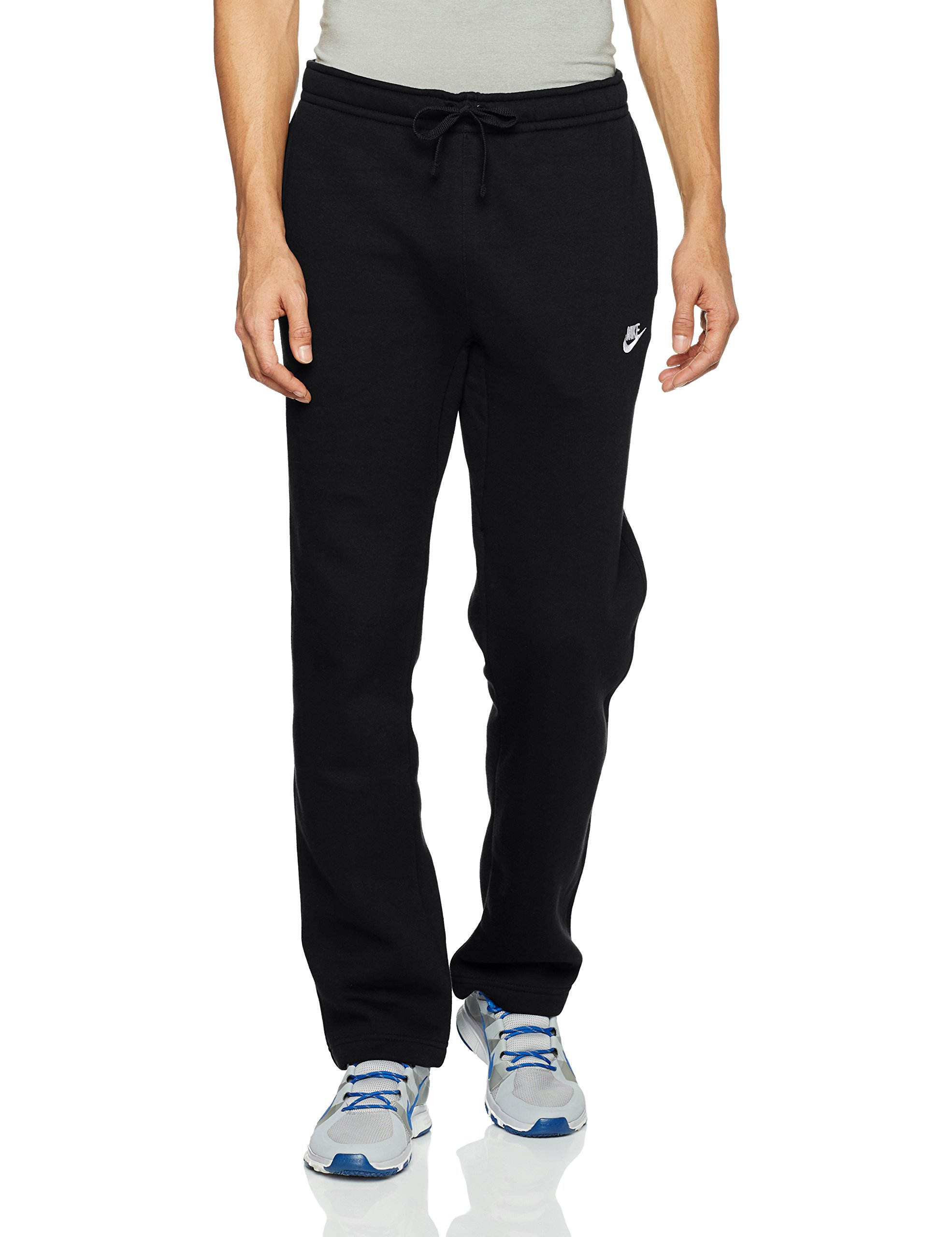 Men's Nike Sportswear Club Sweatpant, Fleece Sweatpants for Men with Pockets, Black/White, S