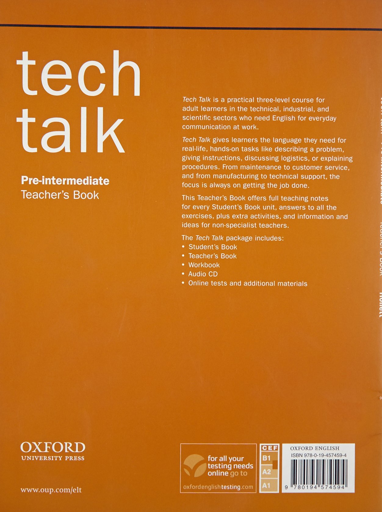 Tech Talk Pre-intermediate Teachers Book