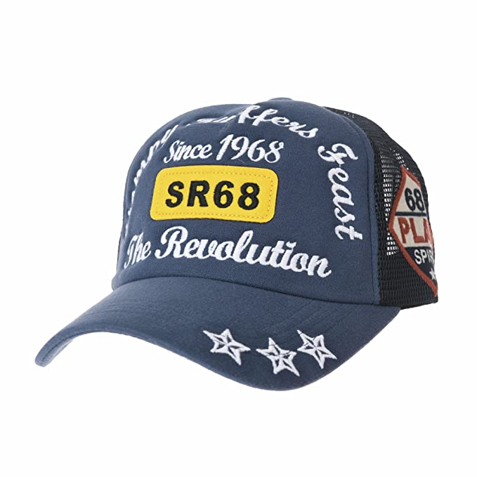 WITHMOONS Gorras de béisbol Gorra de Trucker Sombrero de Baseball Cap Vintage Meshed Cotton Star Embroidery
