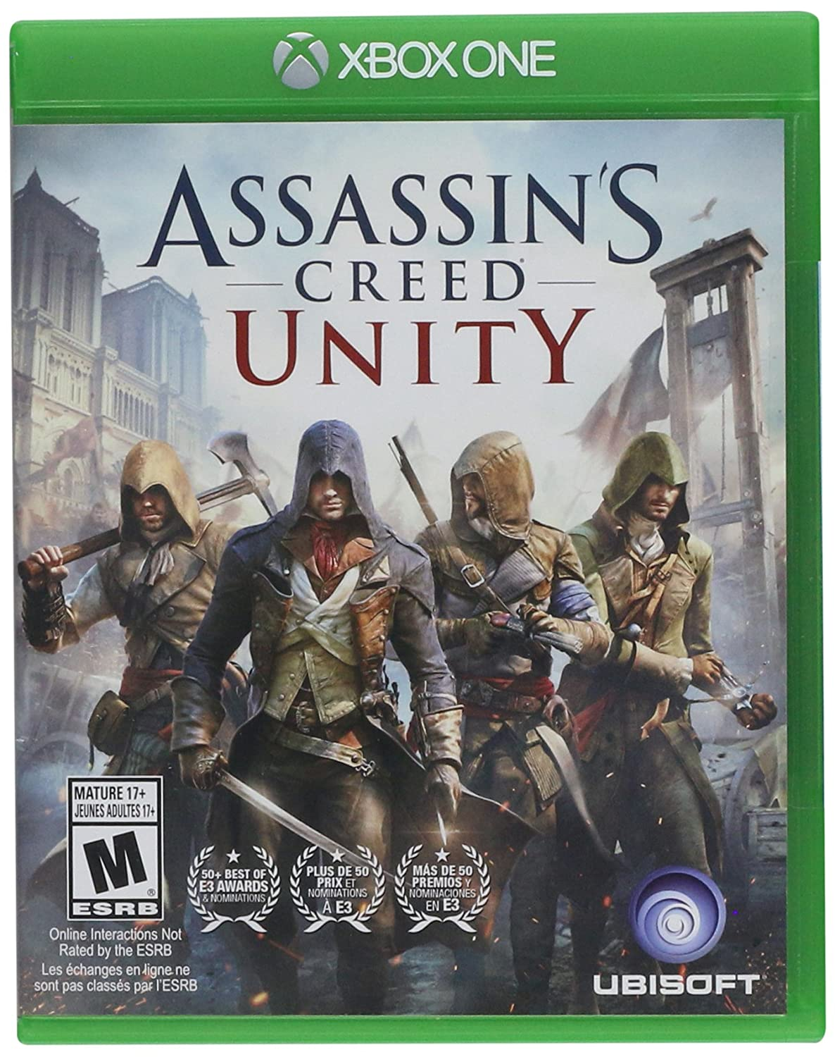 Amazon Com Assassin S Creed Unity Xbox One Ubisoft Video Games