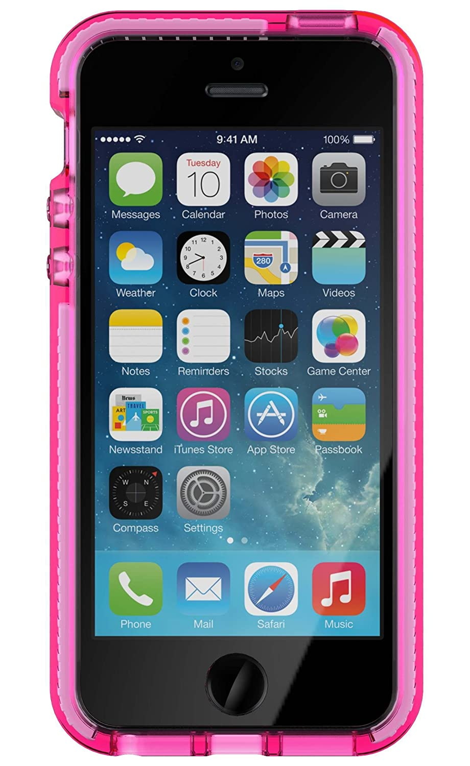 low priced 7bdcb 886c5 Tech21 Evo Mesh for Apple iPhone SE in Pink/White