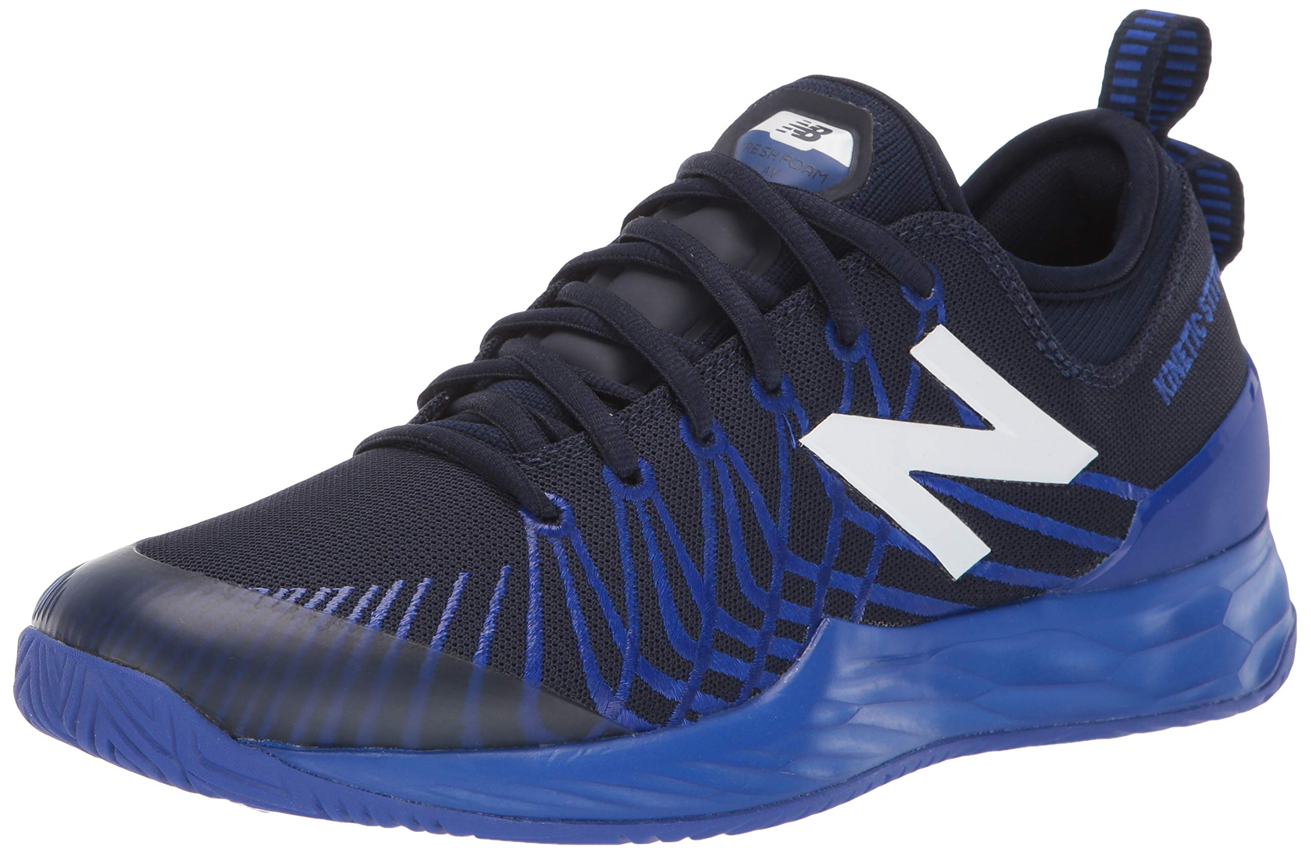 New Balance Men's LAV V1 Hard Court Tennis Shoe, Pigment/UV Blue, 5 D US