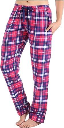 Frankie & Johnny Pantalones de Pijama de Franela 100% algodón para ...