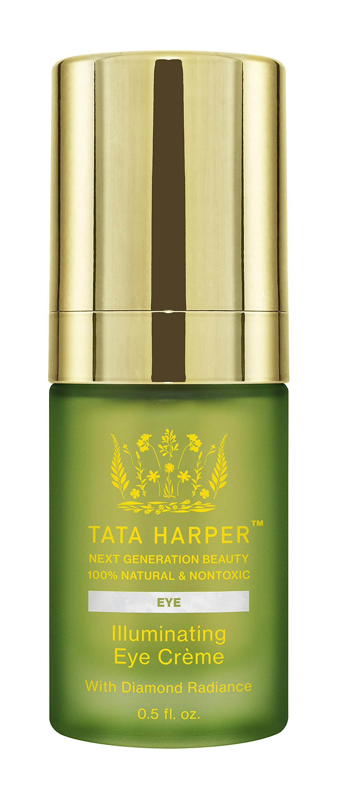 Tata Harper Illuminating Eye Crème | 100% Natural & Nontoxic | Age-Defying Eye Treatement with Diamond Radiance | .5oz