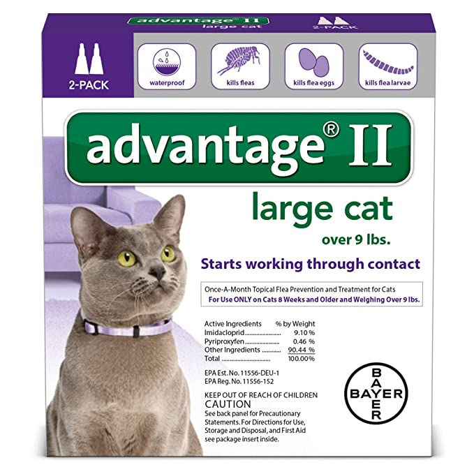 Amazon Advantage Ii Flea Control Large Cat For Cats Over 9