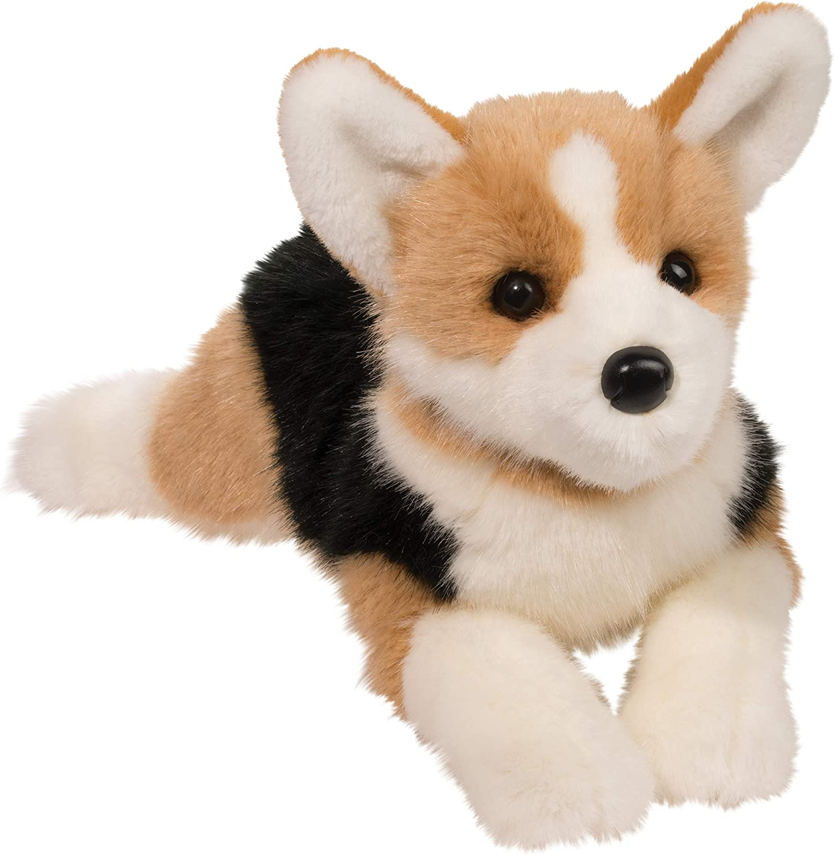 Douglas Konner Tri-Color Corgi Plush Stuffed Animal