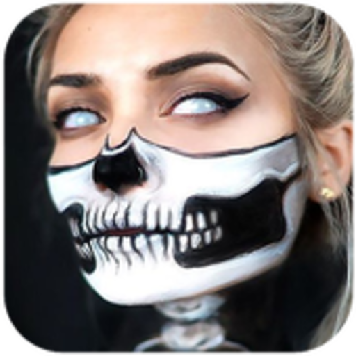 Easy Halloween Makeup Tutorial For Girls (Halloween MakeUp)