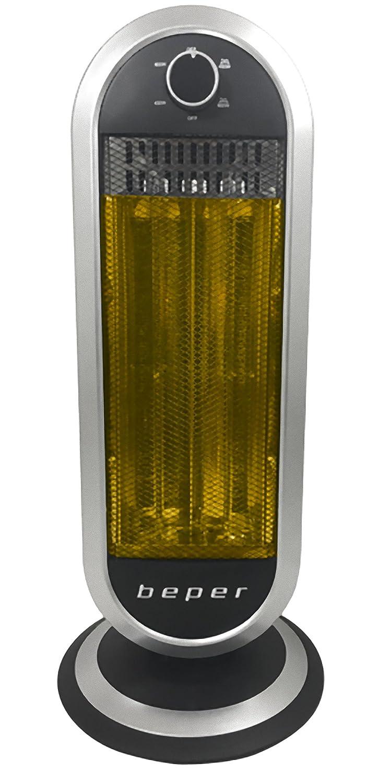 Beper RI.161 - Estufa con 2 elementos de fibra de carbono 900 W: Amazon.es: Hogar