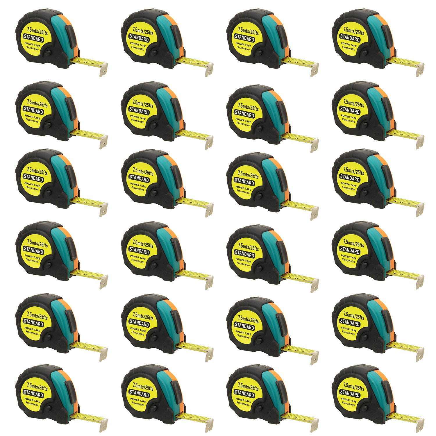 25ft Power Tape Measure Auto Lock (25-Foot 24-Pack)
