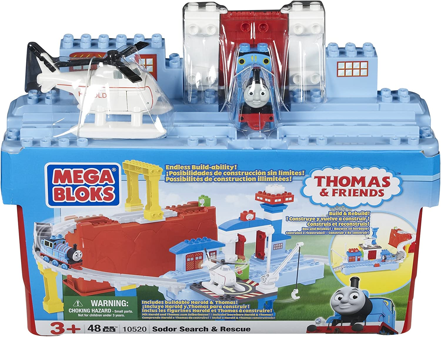 Mega Bloks Thomas and Friends HAROLD Helicopter Toy Playset