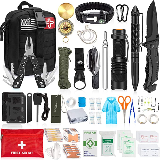 230Pcs SOS Kit Outdoor Emergency Equipment Box Camping Survival Gear First  Other Emergency Equipment Emergency Equipment
