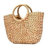 Sac de plage d'été, JOSEKO Sac d'épaule d'été de sac de paille des femmes pour le voyage de plage et l'utilisation quotidienne