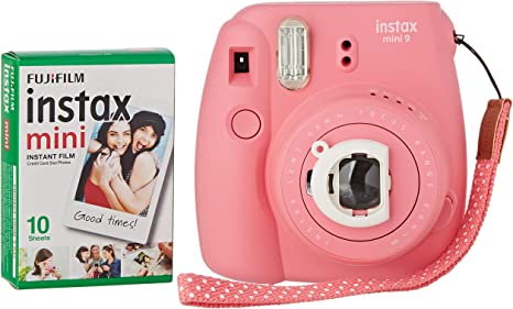 Fujifilm Instax Mini 9 - Cámara instantánea, Cámara con 1x10 películas, Rosa: Amazon.es: Electrónica