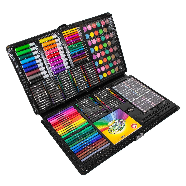 Mega Art Set 250 pc Childrens Drawing Painting Pack Pencil Pastel Large Wallet ProdBuy_Ltd