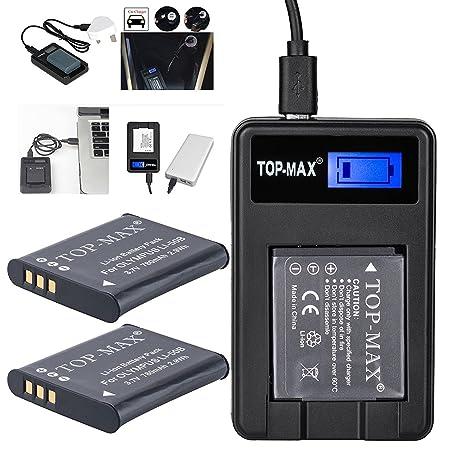 2x Batería Top-Max para EN-EL14 + Cargador Dual USB para Nikon ...