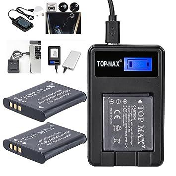 2x Batería Top-Max para EN-EL14 + Cargador Dual USB para ...