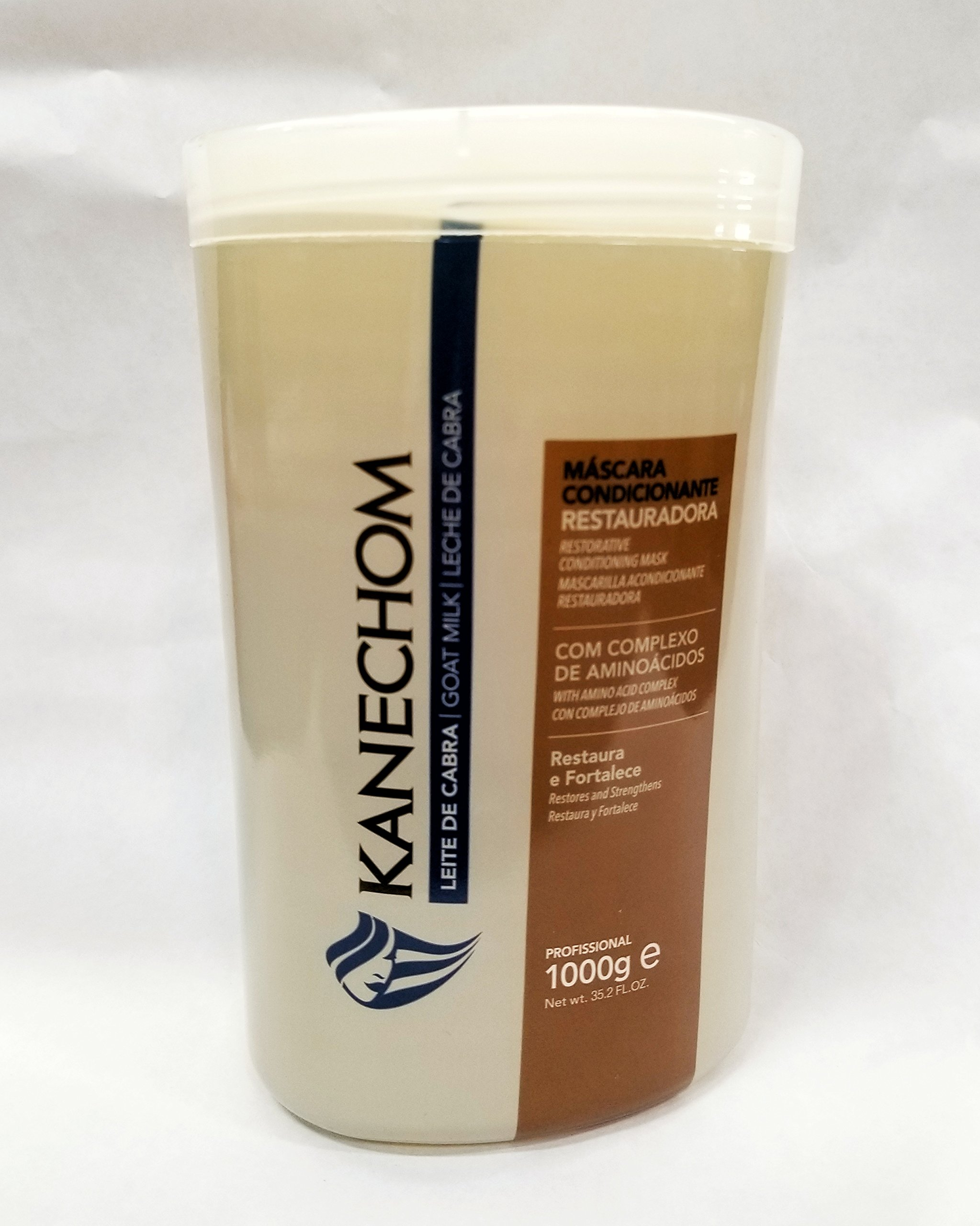 Kanechom Hair Treatment With Goat's Milk 35.2oz | Creme de Tratamento com Leite de Cabra 1kg