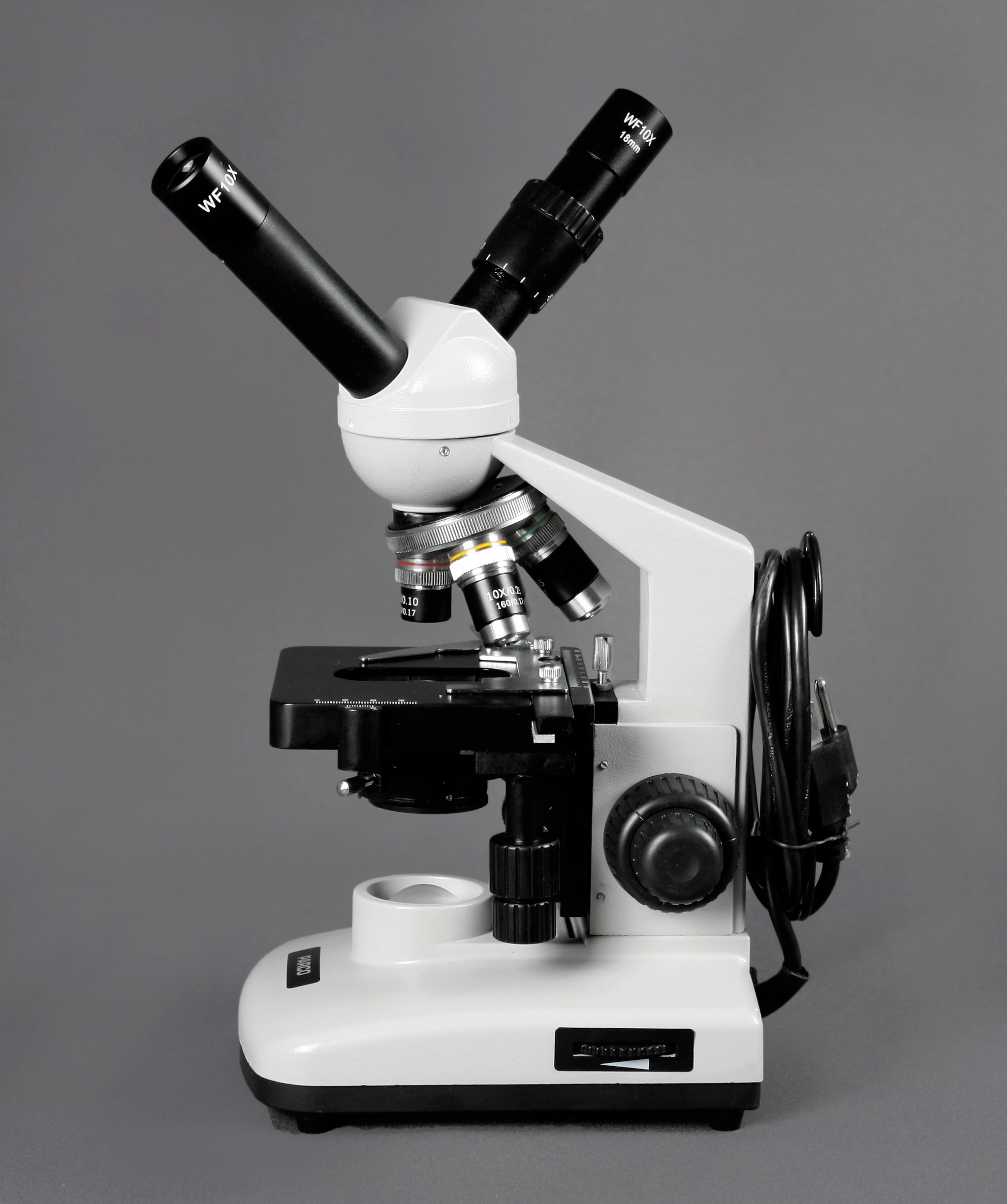 Parco Scientific PBS-500 Dual View Compound Microscope, 10x WF Eyepiece, 40x—1000x Magnification, LED Illumination, 1.25 NA Abbe Condenser, Coaxial Coarse & Fine Focus, Mechanical Stage by Parco Scientific (Image #4)