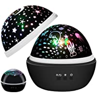 Toys for 1-10 Years Old Boys Girls,Star Projector Night Light,Ocean Projector,Kids Gifts,Rotating Night Light for Kids Baby Nursery(Black)