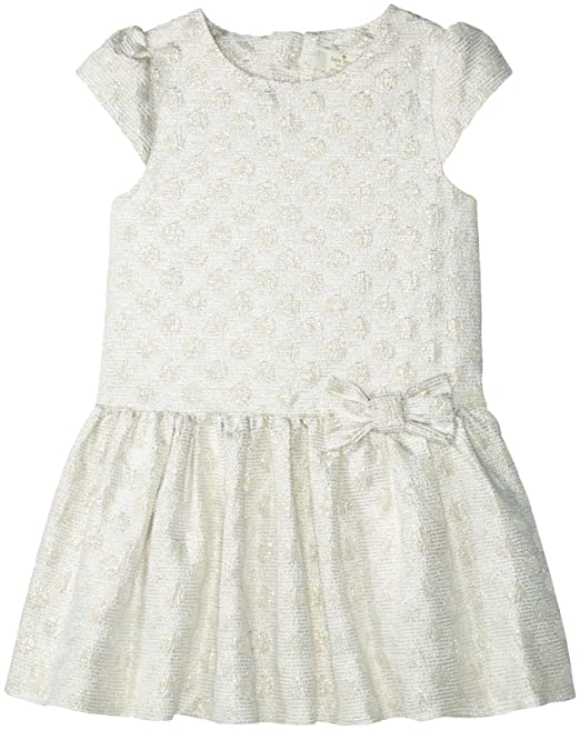 Kate Spade New York Girls Toddlers Gold Dot Dress Cream Gold 3
