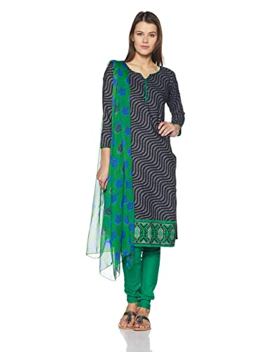 BIBA Women's Cotton Dress Material Dress Material at amazon