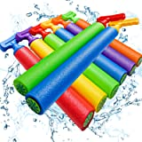"""Scientoy Water Gun, 8 PCS Pool Toys,16""""-24.8"""" Squirt Gun for Kids with 35FT Long Shot Water Cannon for Adults&Kids&Boys&Girls"""