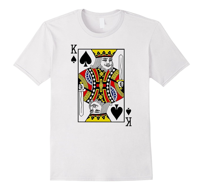 Ace of Spades  Card Suit Halloween Poker Magic Fan T-shirt-CL