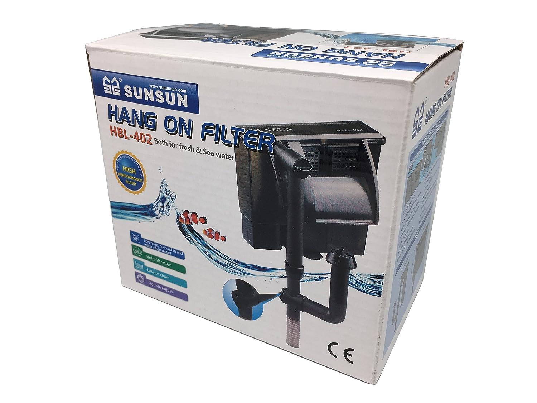 HBL 402 filtro externo de mochila mochila Cascada 2 W 300 L/H Acuario Dolce Marino: Amazon.es: Hogar