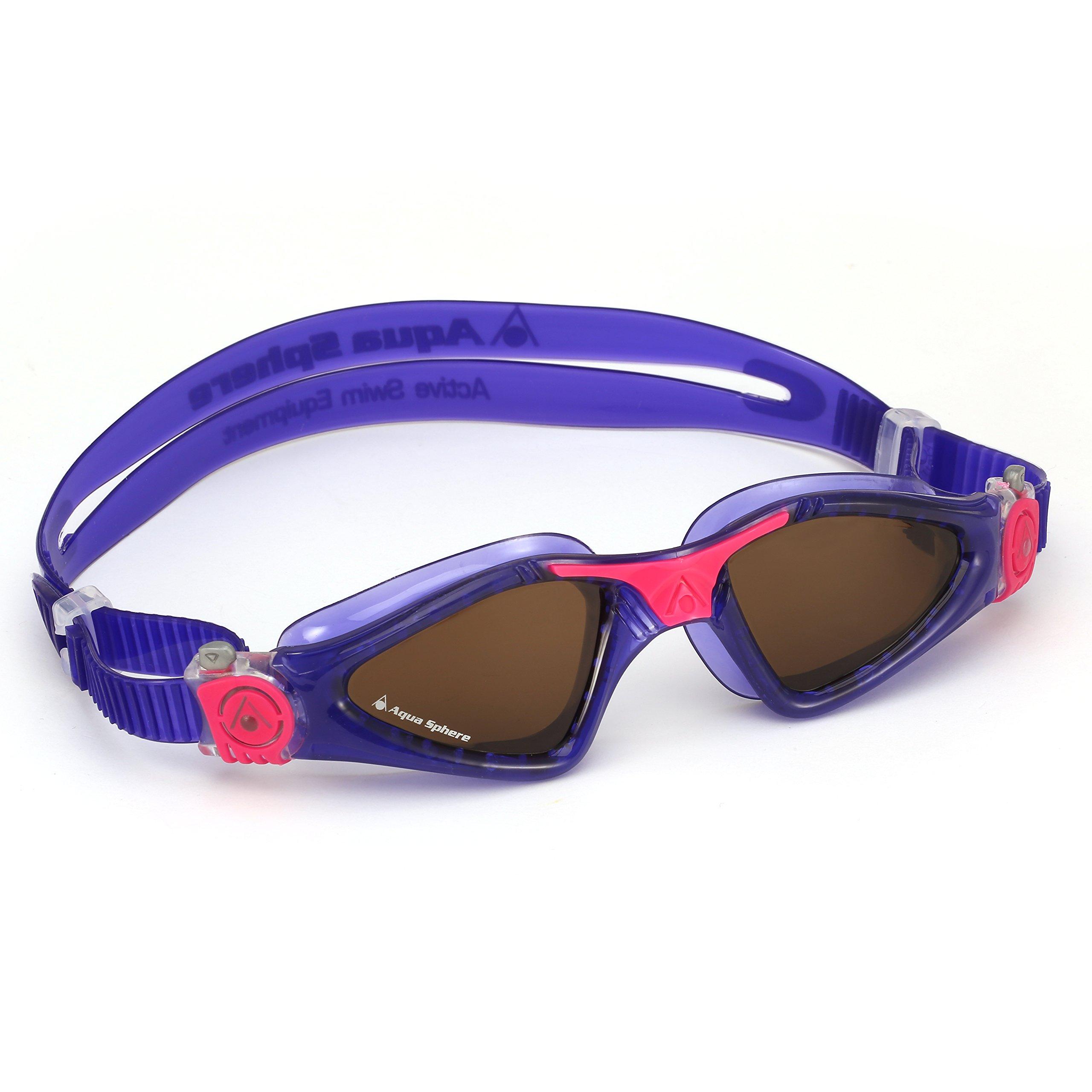 Aqua Sphere Kayenne Ladies Swimming Goggles Polarized Lens, Violet & Pink UV Protection Anto Fog Swim Goggles for Women