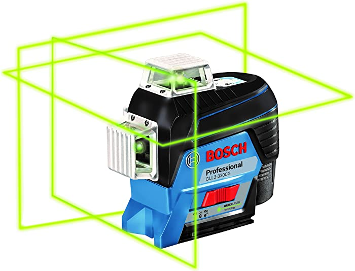 Bosch GLL3-330CG 360-Degree Green Beam Three-Plane Leveling and Alignment-Line Laser Review