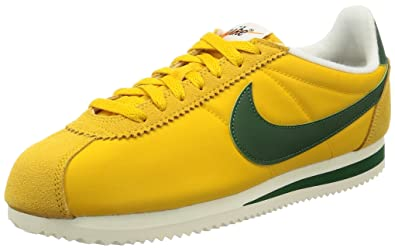 newest 6629a def0e Nike Mens Classic Cortez Yellow Ochre Gorge Green Nylon Trainers 8.5 UK