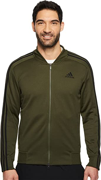 adidas Men's Sport ID Track Bomber Jacket Night Cargo Large