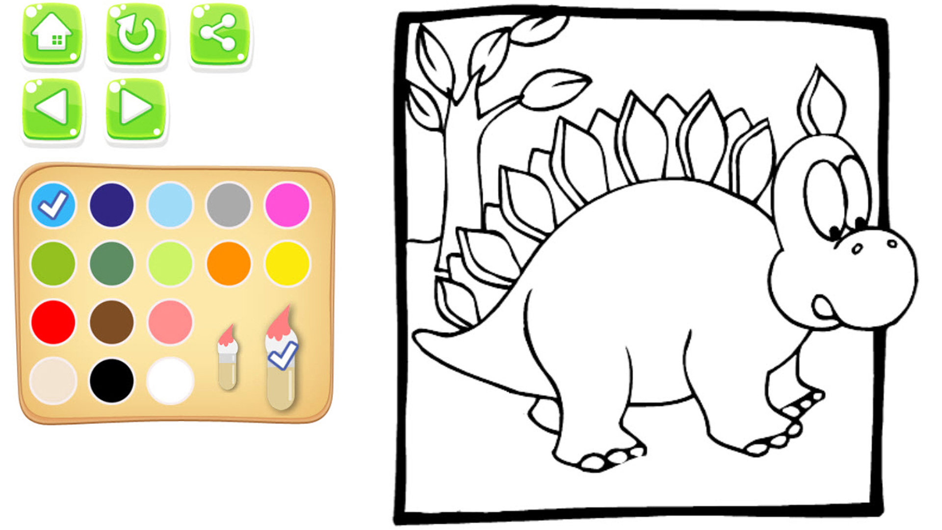 mi dino libro para colorear para los niños y juego de pintura ...