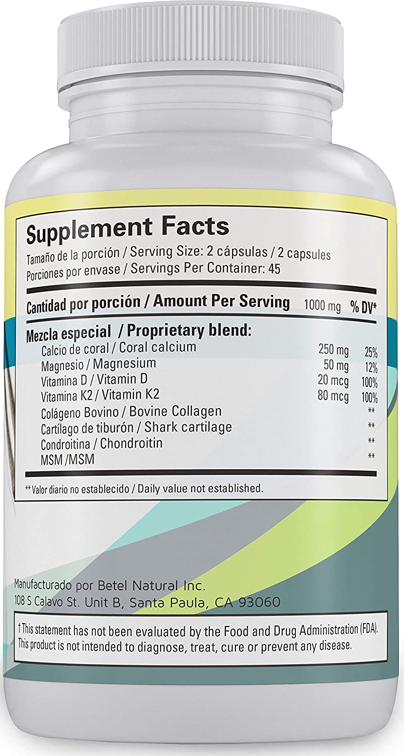 Amazon.com: Oseo Forte Capsules by Betel Natural - All Natural Support for Strong, Healthy Bones - 90 Capsules: Health & Personal Care