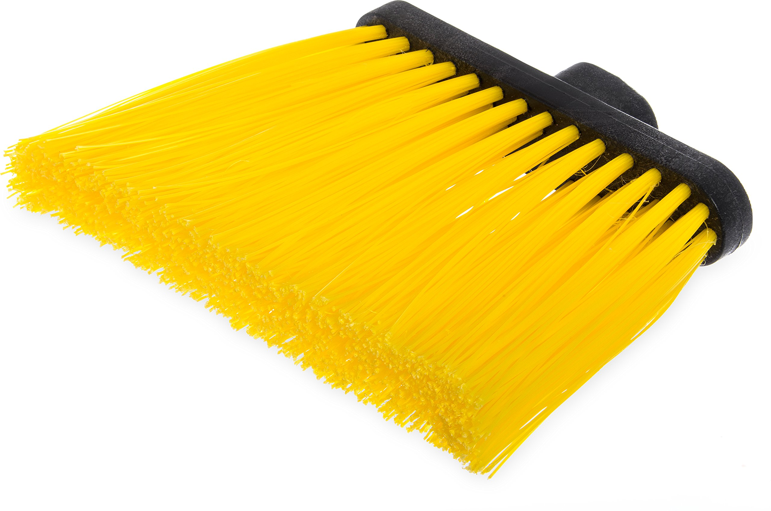 Carlisle 3686804 Duo-Sweep UnFlagged Angle Broom Head, 8'', Yellow (Pack of 12)