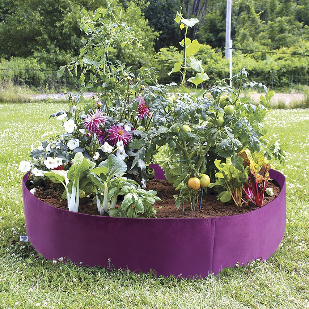 Mokylor 100-Gallon Extra Large Raised Bed, Round Grow Bag Diameter 50'' Height 12'' Made Of Growth Friendly Felt for Nursery Garden and Planting Grow (Purple) by Mokylor
