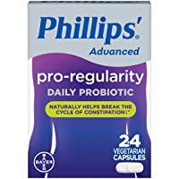 Phillips' Advanced Pro-Regularity Probiotics for Women & Men with Good Bacteria to Naturally Support Regularity, 24 Capsules