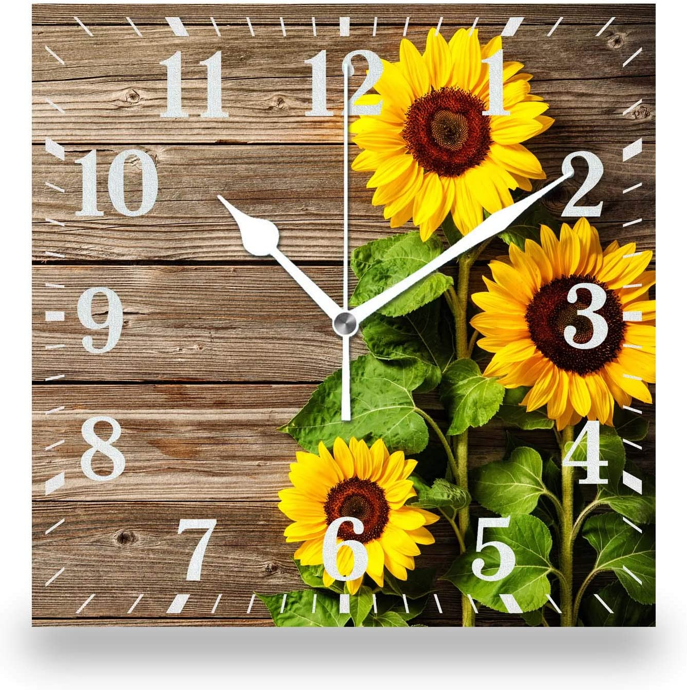 50% Off Coupon – Rustic Design Flower Wall Clock