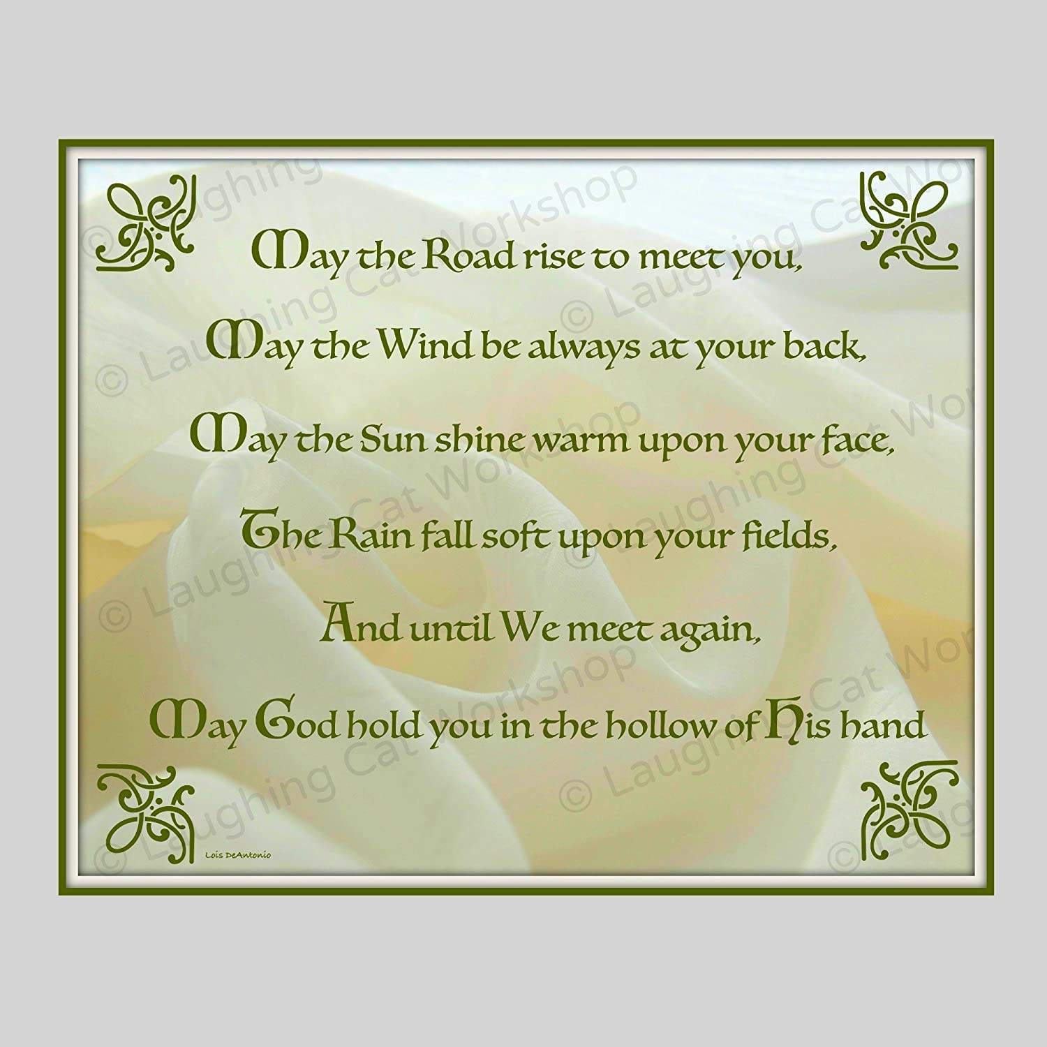 Amazon.com: Irish art God Blessings Celtic Gaelic Scottish wall ...