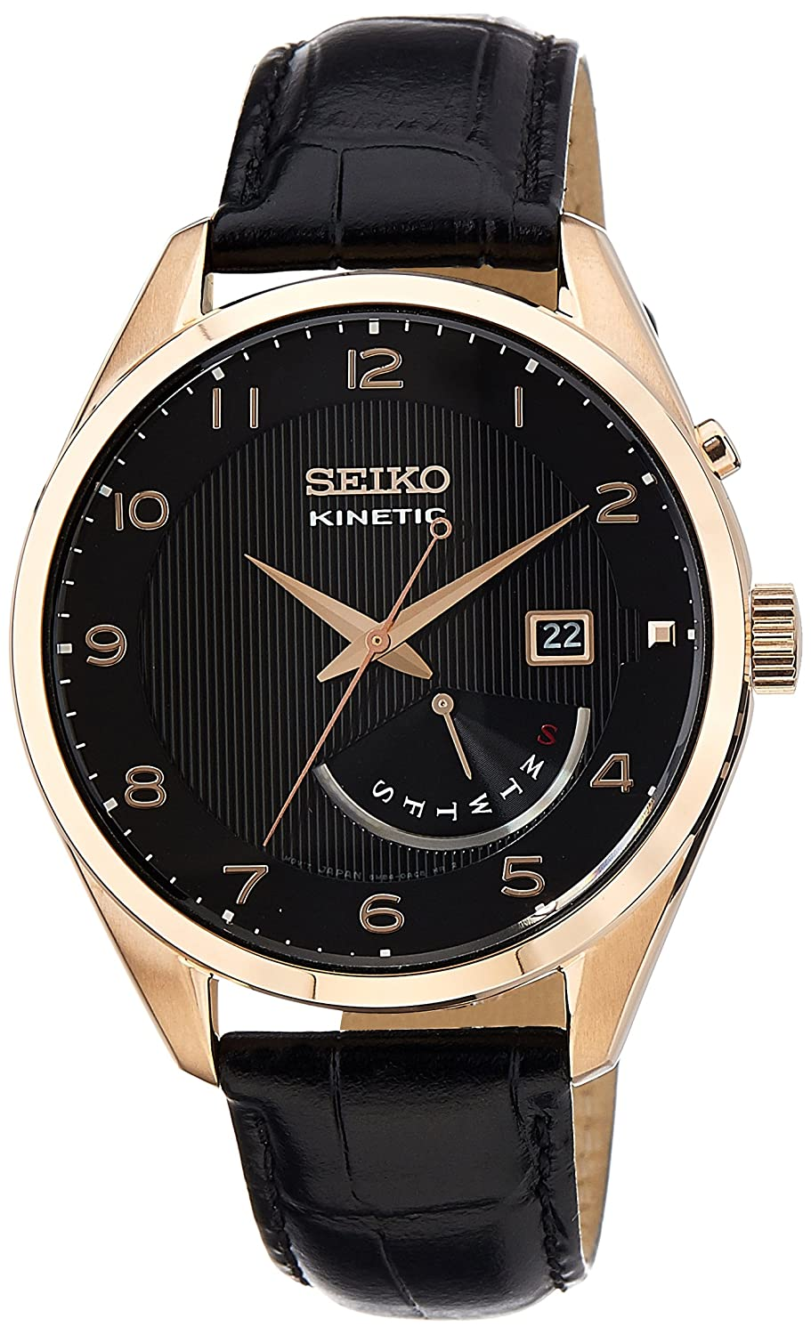 Seiko Dress Analog Black Dial Men's Watch - SRN054P1