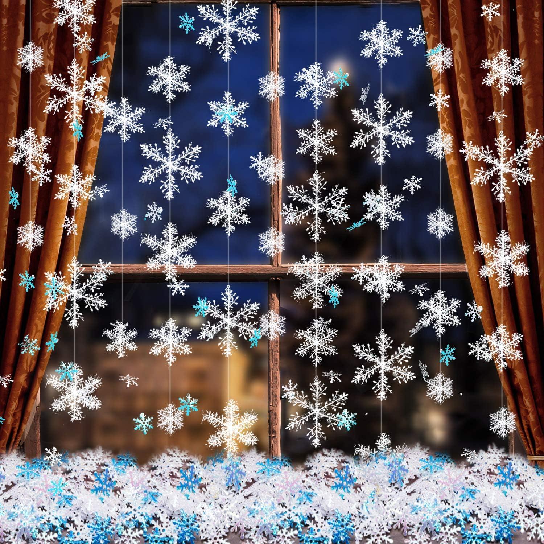 Metre Length Snow Globes Blue Christmas Print Fabric RRP £14 per metre SALE!