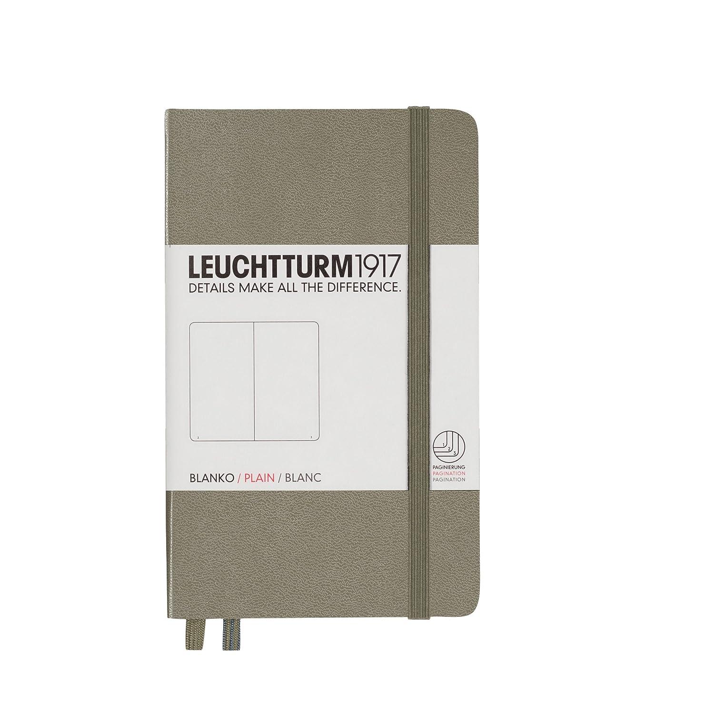 Leuchtturm1917 339601 - Cuaderno de notas (A6, 185 páginas, hojas punteadas), color negro