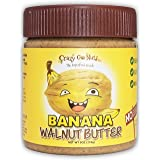 Crazy Go Nuts Walnut Butter - Banana, 9 oz (1-Pack) - Healthy Snacks, Keto, Vegan, Low Carb, Gluten Free, Superfood - Natural