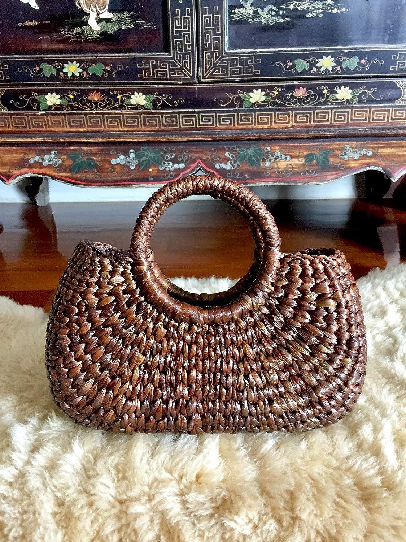 Dark Brown Weave Basket   Straw Bag  Summer  Market Bags  Beach Bag  Boho Totes  Bridesmaids Totes